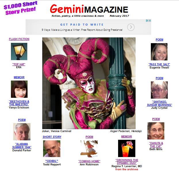 Writing  - Magazine cover